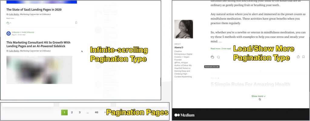 Pagination Pages and How to Deal with Them